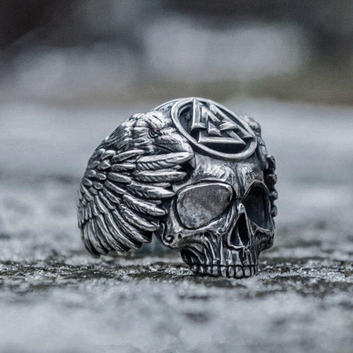 Valknut Skull Ring - Empire of the Gods