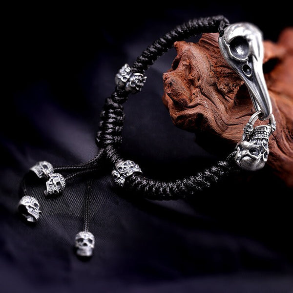 925 Sterling Silver Raven Bracelet - Empire of the Gods