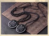 Obsidian Dragon Coin Necklace - Empire of the Gods