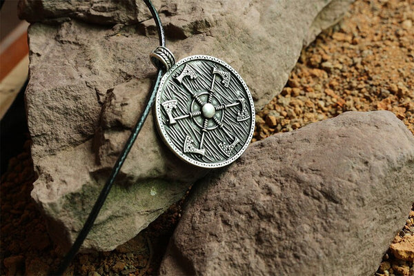 Thunder Shield of Perun Slavic Axes Necklace - Empire of the Gods
