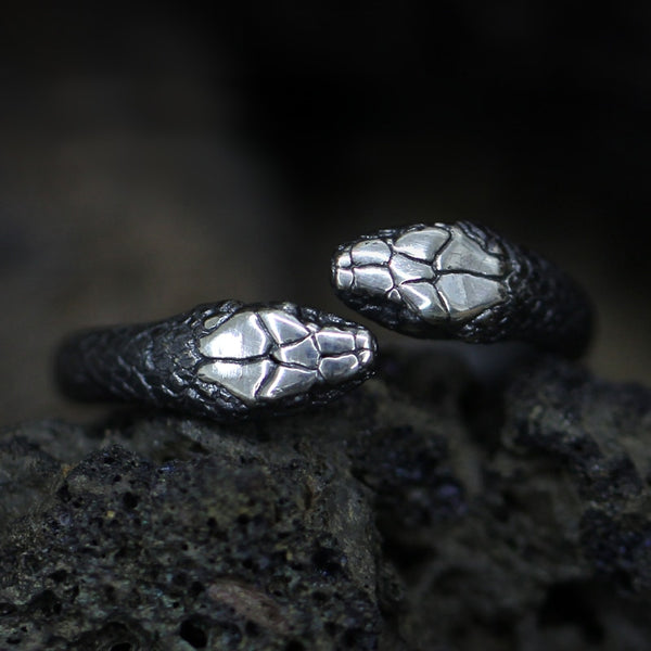 Two-Headed Snake Ring - Empire of the Gods