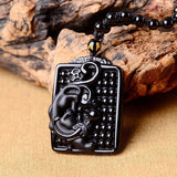 Obsidian Dragon Balls Guardian Necklace - Empire of the Gods