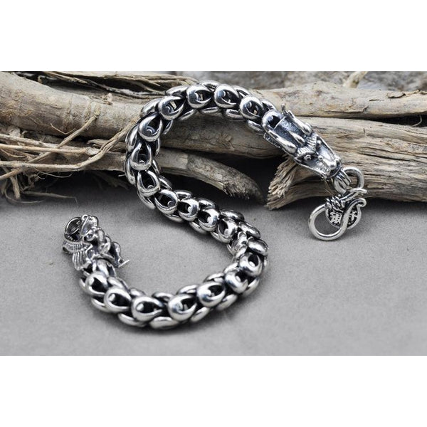 925 Sterling Silver Dragon Bracelet - Empire of the Gods
