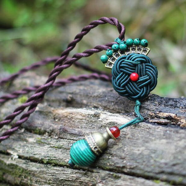 Chinese Knot Peacock Pendant Necklace - Empire of the Gods