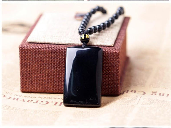 Obsidian Bamboo Necklace - Empire of the Gods