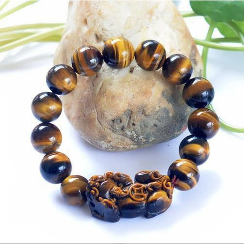 Tiger Eye Foo Dog Bracelet - Empire of the Gods