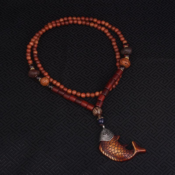 Wooden Koi Fish Necklace - Empire of the Gods
