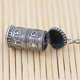 Buddhist Prayer Wheel Necklace - Empire of the Gods