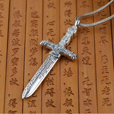 Handmade 925 Sterling Silver Sword Pendant - Empire of the Gods