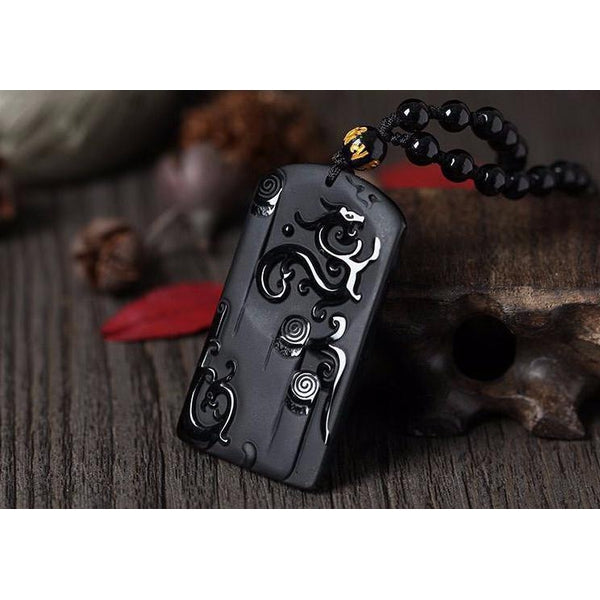 Obsidian Ryujin Necklace - Empire of the Gods