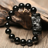Obsidian Foo Dog Guardian Bracelet - Empire of the Gods
