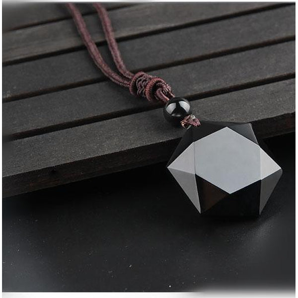 Obsidian Star of David Necklace - Empire of the Gods