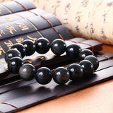 Obsidian Beads Bracelet - Empire of the Gods