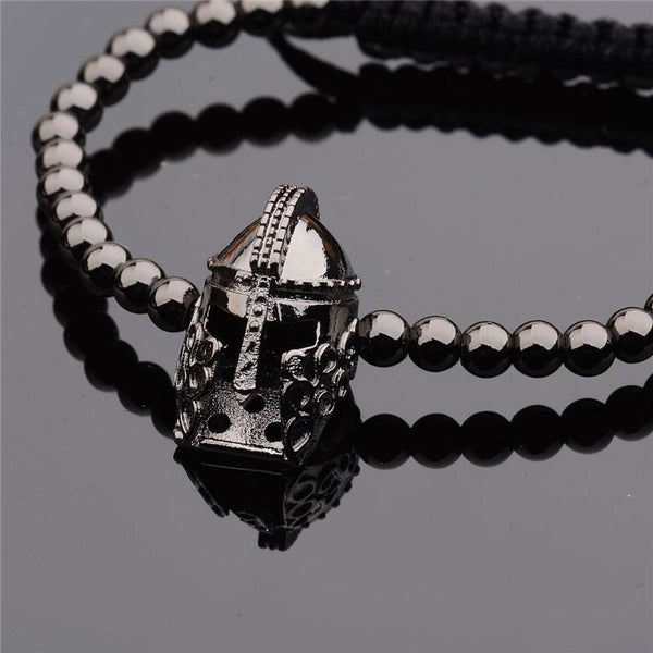 Titanium Spartan Warrior Helmet Bracelet - Empire of the Gods