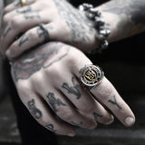 Titanium Vintage Templar Ring - Empire of the Gods