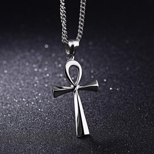 Mystic Ankh Cross Pendant Necklace - Empire of the Gods