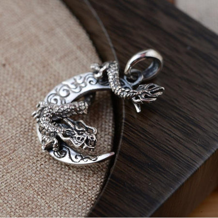 925 Sterling Silver Foo Dog Guardian Bangle