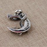 925 Sterling Silver Dragon Crescent Pendant - Empire of the Gods