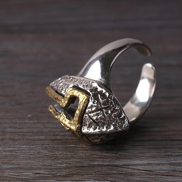 Hammered Spartan Helmet Ring - Empire of the Gods