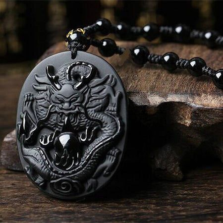 Natural Hetian Jade Handmade Samurai Pendant Necklace