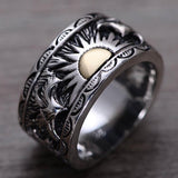 925 Sterling Silver Sunrise Ring - Empire of the Gods