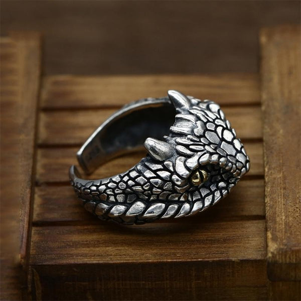 925 Sterling Silver Snake Ring - Empire of the Gods