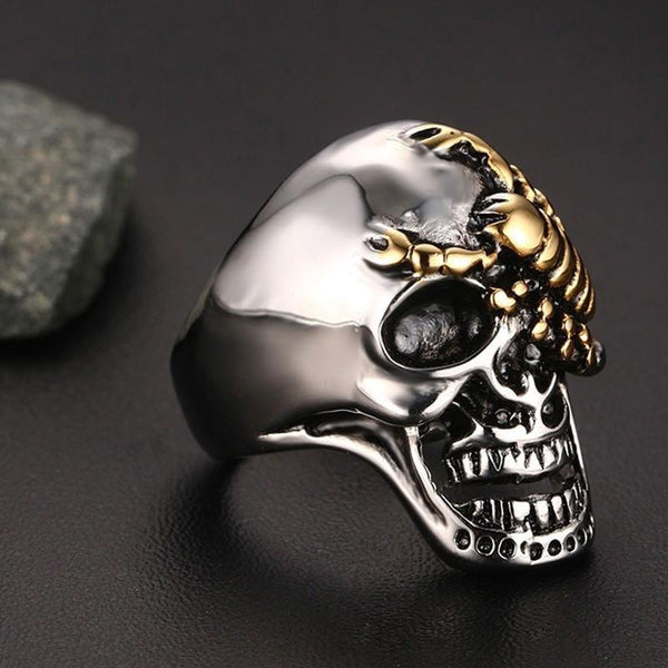Skull with & Scorpion Ring - Empire of the Gods