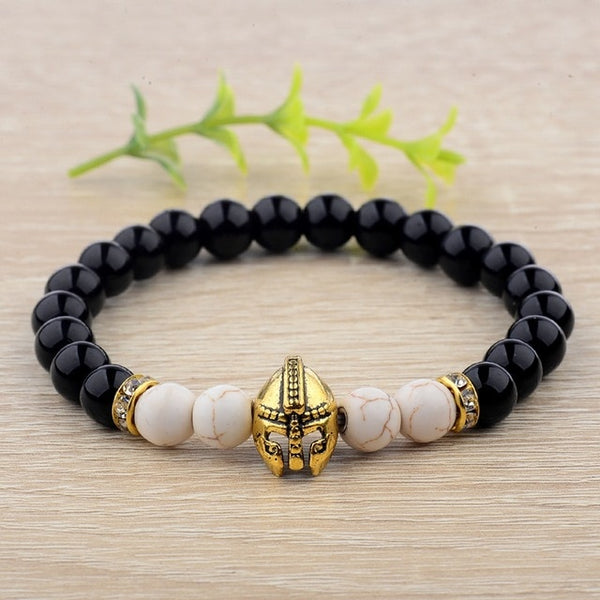 Spartan Helmet Stone Bracelets - Empire of the Gods