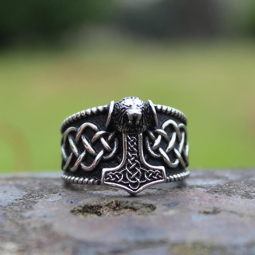 Bear Mjolnir Ring - Empire of the Gods