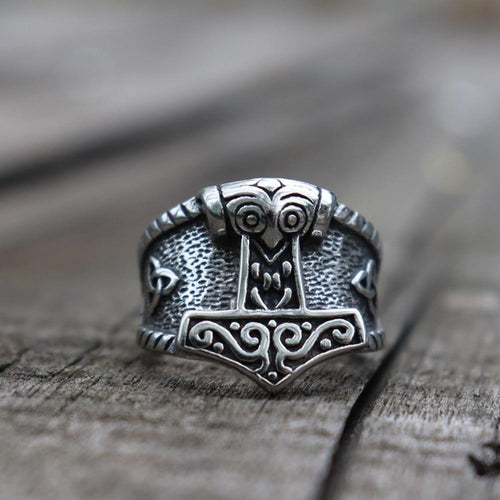 Owl Mjolnir Ring - Empire of the Gods