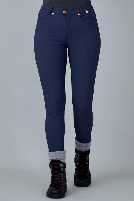 The Aventurite Stretch Skinny Outdoor Trousers - Midnight Blue
