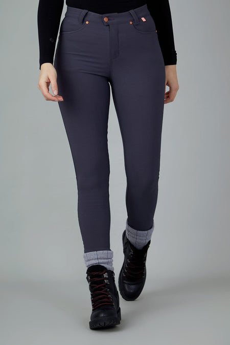 The Aventurite Stretch Skinny Outdoor Trousers - Obsidian