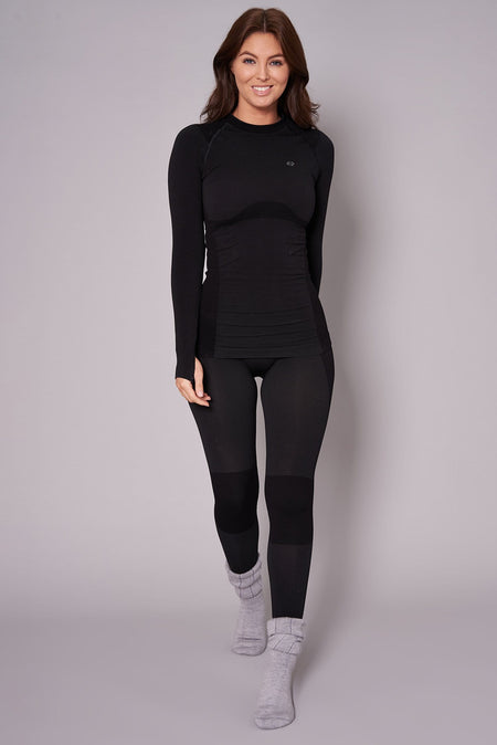 Thermal Seamless Base Layer Top - Black
