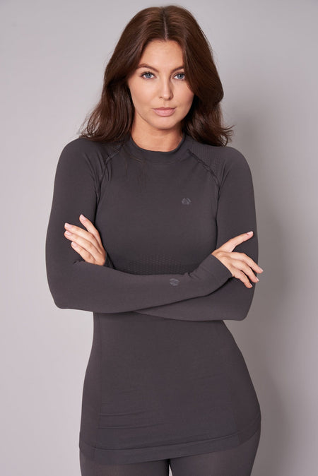 Thermal Seamless Base Layer Top - Storm Grey