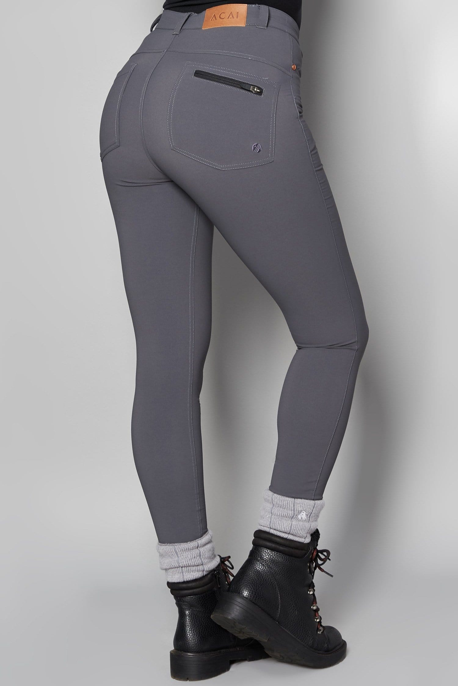 MAX Stretch Skinny Outdoor Trousers - Storm Grey - ACAI Activewear