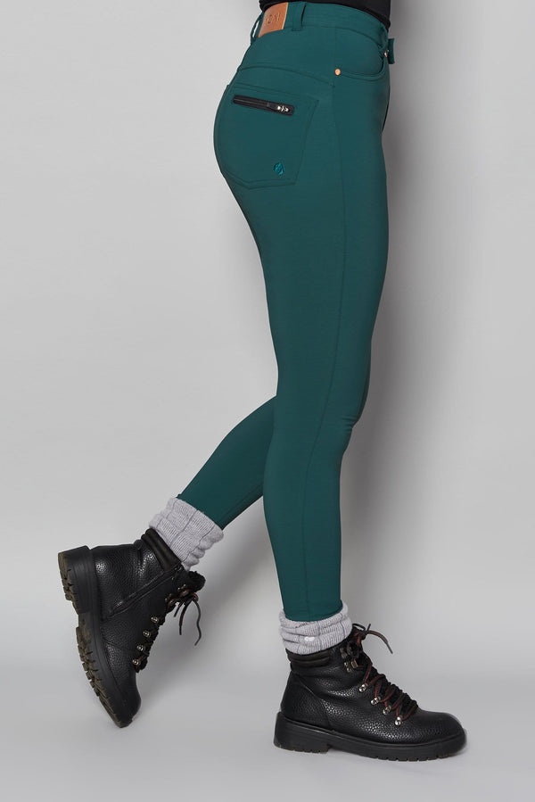 MAX Stretch Skinny Outdoor Trousers - Bottle Green - ACAI Activewear