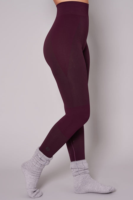 Thermal Seamless Base Layer Tights - Aubergine
