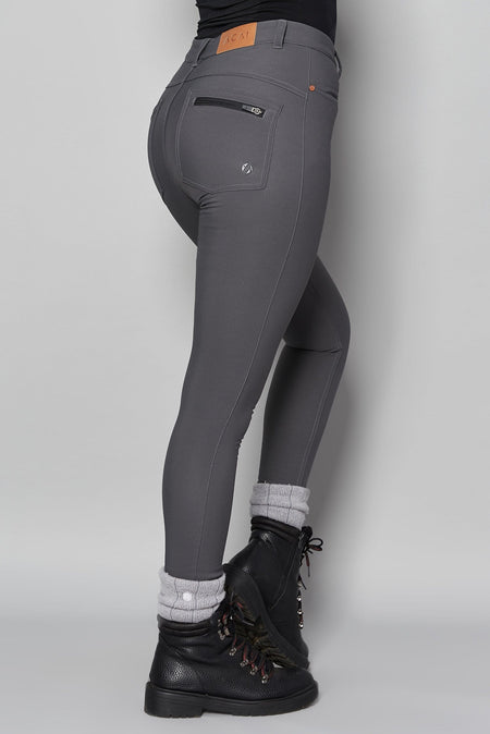 Thermal Skinny Outdoor Trousers - Storm grey - ACAI Activewear