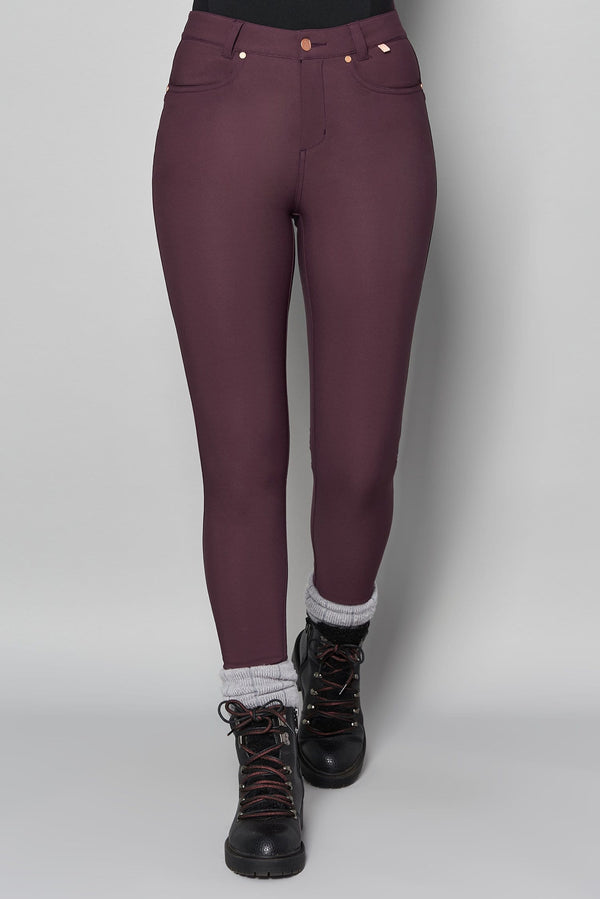 Thermal Skinny Outdoor Trousers - Aubergine - ACAI Activewear