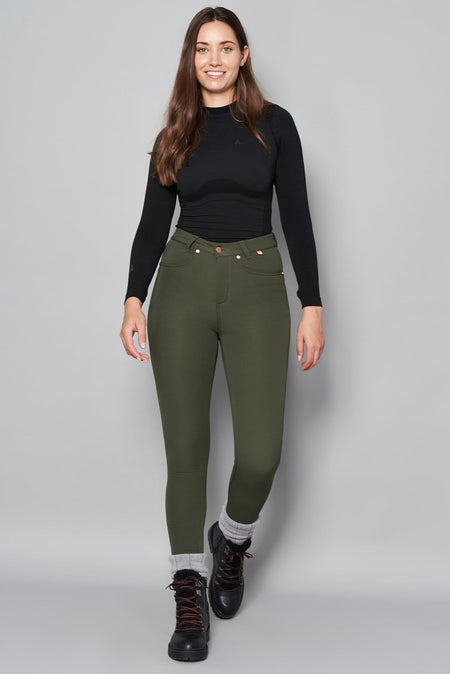 Thermal Skinny Outdoor Trousers - Khaki