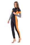 GlideSoul VIBRANT STRIPES COLLECTION 3 MM FULL WETSUIT WITH BACK ZIP