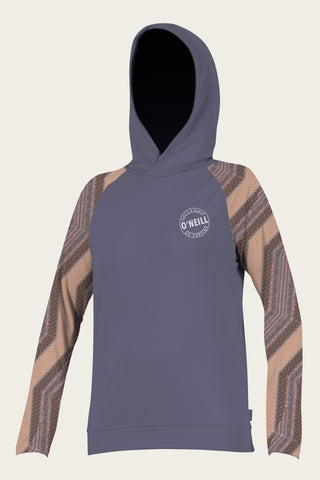 O'NEILL ALWAYS SUMMER COLLECTION WMS PRINT L/S HOODIE