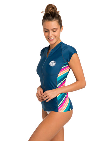RIP CURL HANNA CAP SLEEVE RASH GUARD