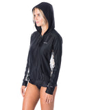 RIP CURL WOMENS LONG SLEEVE ZIP SURF HOODIE