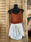 California MoonRise - Spaghetti Strap Polka Dot Cami Top