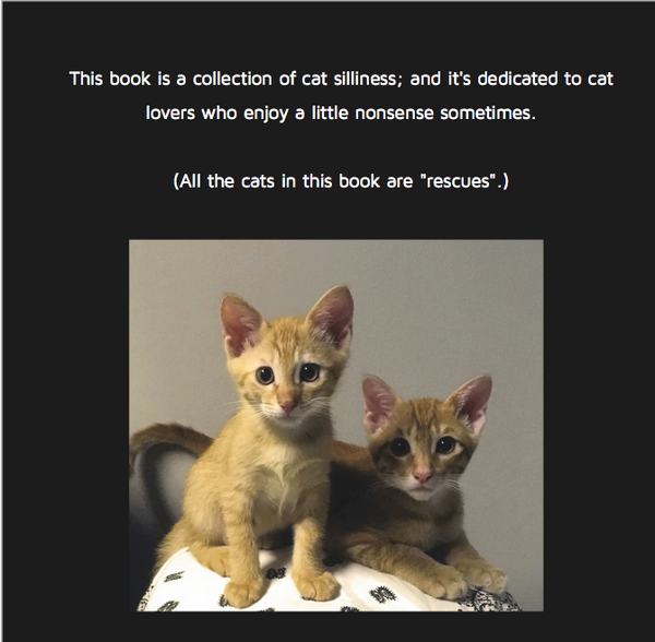 5 Cats & A Silly Human (eBook)