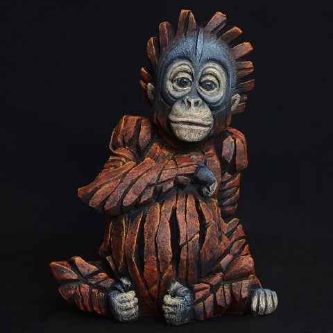 Baby Orangutan by Edge Sculpture