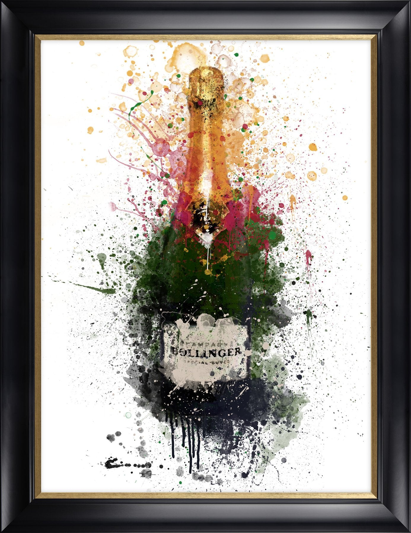 Bollinger framed print by Pop & Toast from Artworx Gallery