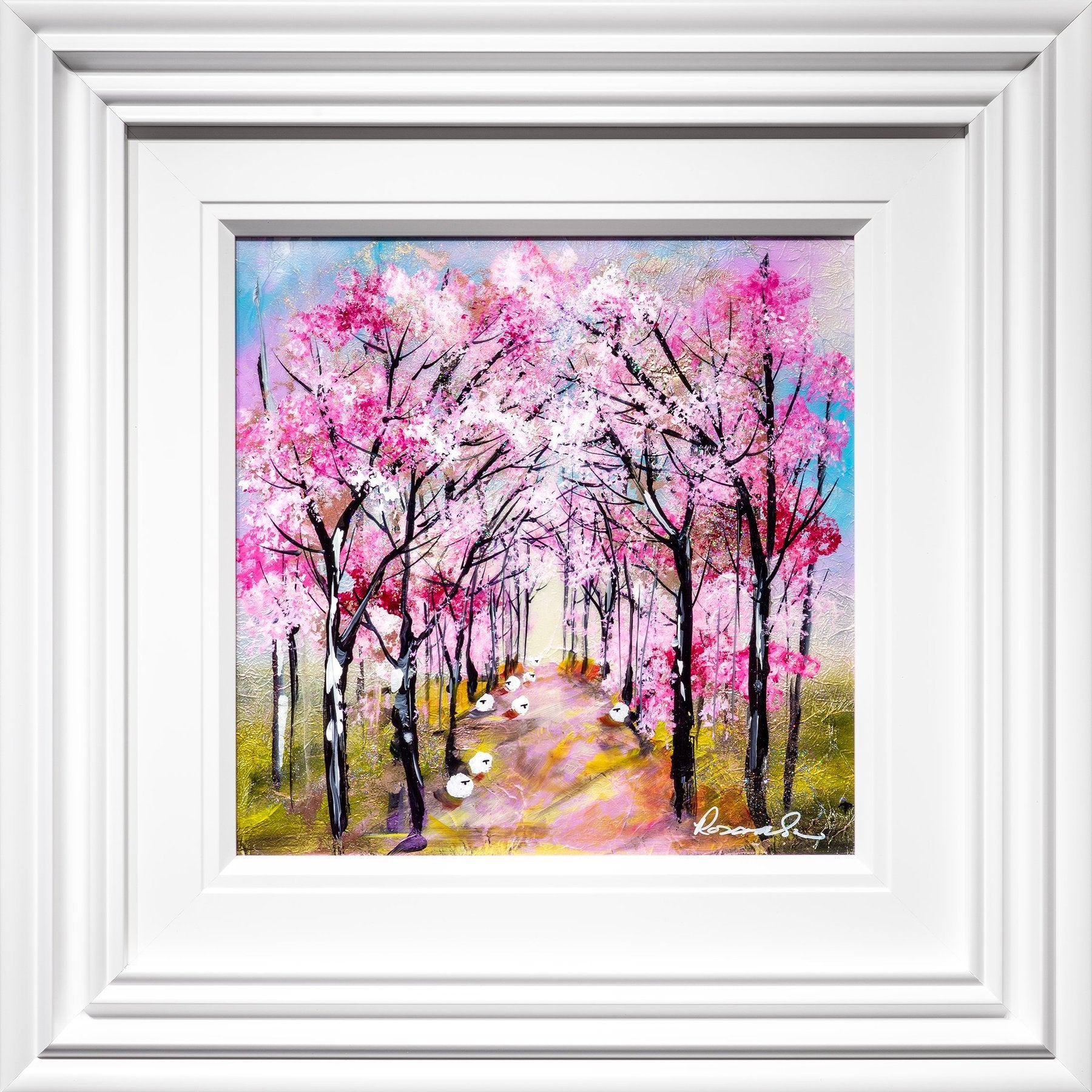 Cherry Path original painting by Rozanne Bell from Artworx Gallery
