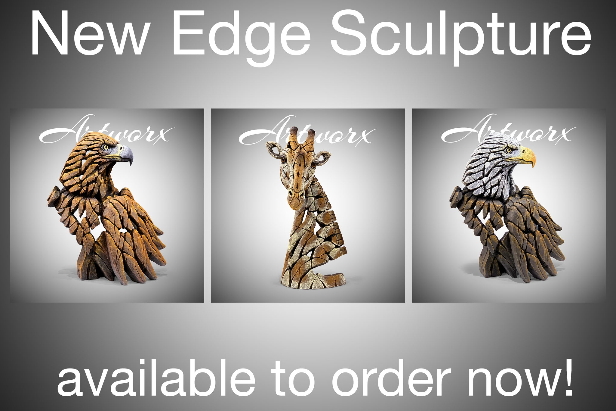 New Edge Sculpture Eagles and Giraffe